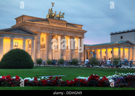 Porte de Brandebourg, Berlin, Allemagne Banque D'Images