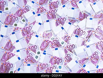 500 billets en euros Banque D'Images