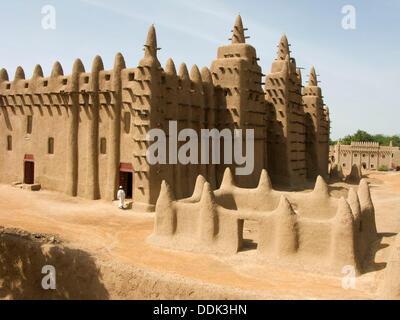 Grande Mosquée. Djenné. La région de Mopti. Delta Intérieur du Niger. Le Mali. L'Afrique de l'Ouest. Banque D'Images
