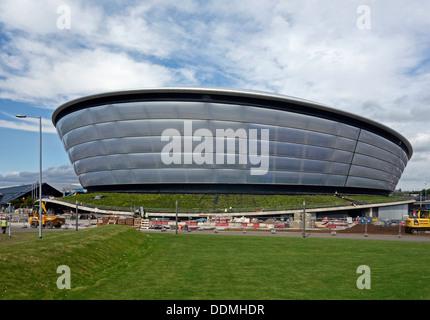 La construction presque terminée de la nouvelle arène national écossais (l'hydroélectricité) à la SECC à Glasgow Banque D'Images
