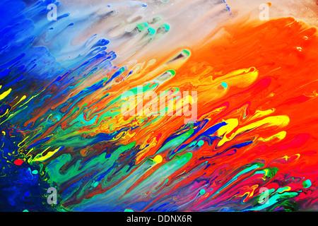 Bright colorful abstract art peinture historique close up Banque D'Images