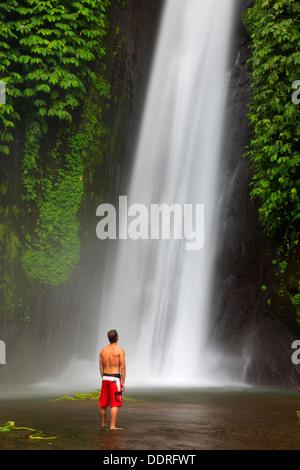 L'INDONÉSIE, Bali, montagnes centrales, Munduk, Cascade Banque D'Images
