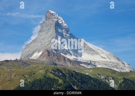 Cervin dans les Alpes Pennines à partir de Zermatt, Suisse. Banque D'Images
