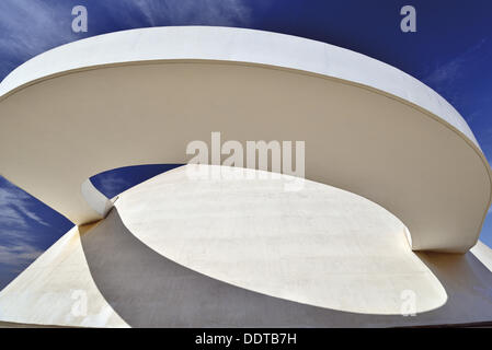 Brésil, Brasilia, Oscar Niemeyer, le Musée National, le détail, l'architecture, Voyage, tourisme, tourisme, capitale Banque D'Images