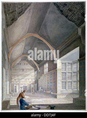 Vue de l'intérieur du hall, Furnival's Inn, au cours de la démolition, la ville de Londres, c1819. Blemmell Schnebbelie Banque D'Images