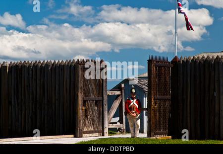 Fort George Niagara sur le lac Ontario Canada avant de porte Banque D'Images