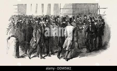Révolution EN FRANCE: LES MEMBRES DEMANDANT L'ADMISSION À LEUR PALAIS LÉGISLATIF, 1851 Banque D'Images