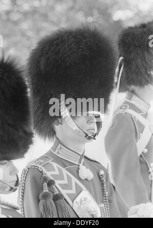 Les musiciens de la Garde côtière canadienne portant des busbies Les Garçons de Tivoli, Copenhague, Danemark, 1962. Banque D'Images