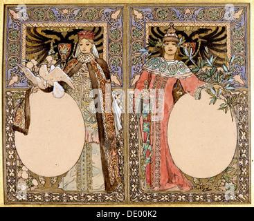 L'illustration du livre, 1890. Artiste: Alphonse Mucha Banque D'Images
