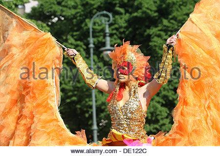 Danseur, Carnaval des Cultures, Berlin Banque D'Images