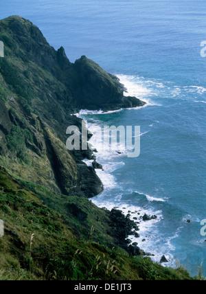 À la vers Cape Maria Van Diemen à partir du cap Reinga à l'extrémité nord de l'Île du Nord, où l'explorateur Kupe Banque D'Images