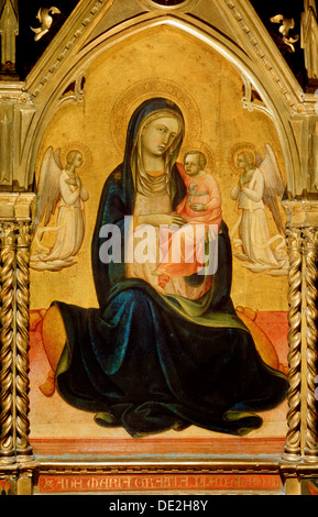 """""""La Vierge et l'enfant avec des anges (Vierge de l'Humilité)', c1408-c1410. Artiste: Lorenzo Monaco Banque D'Images"""