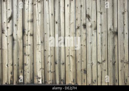 Mur en bois pâle de cartes rabotés Banque D'Images