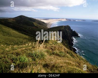 À la vers Cape Maria Van Diemn de Cape Reinga à l'extrémité nord de l'Île du Nord, où l'explorateur Kupe atterri Banque D'Images