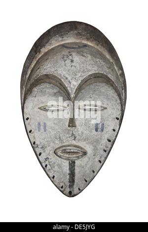 Masque Tribal en bois africain Banque D'Images