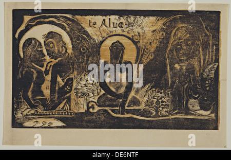 Te Atua (Les Dieux) de la série Noa Noa, 1893-1894. Artiste: Paul Gauguin, Eugée Henri (1848-1903) Banque D'Images