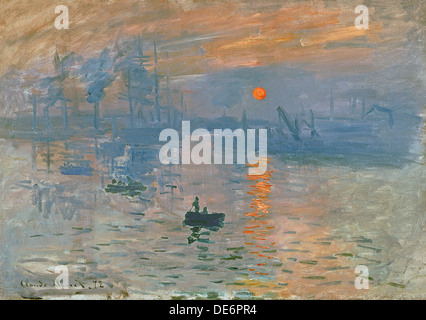 Impression, Sunrise (Impression, soleil levant), 1872. Artiste : Monet, Claude (1906-1957) Banque D'Images