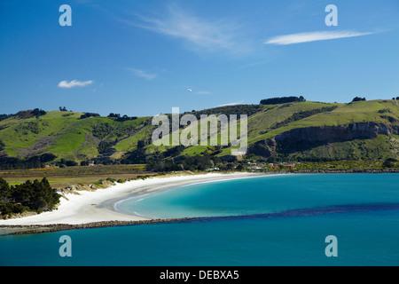 L'entrée du port d'Otago, et Aramoana, Dunedin, Otago, île du Sud, Nouvelle-Zélande