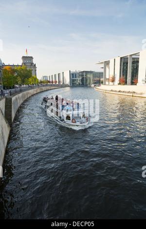Vue sur la rivière Spree à Berlin