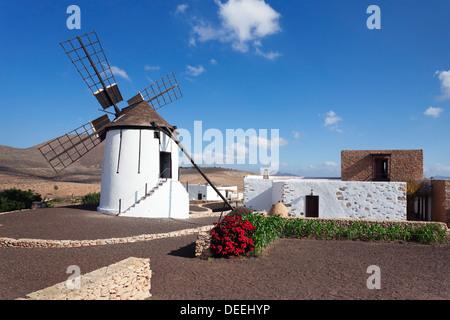 Mill Museum (Centro de Interpretacion de los Molinos), Tiscamanita, Fuerteventura, Îles Canaries, Espagne, Europe, Banque D'Images