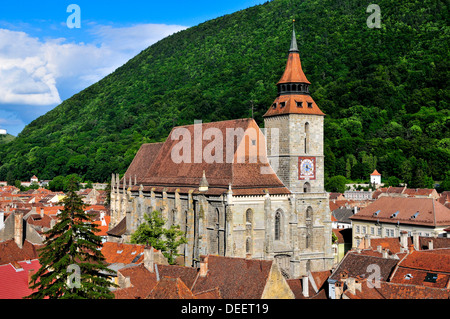 L'église noire de Brasov, en Transylvanie, Roumanie Banque D'Images