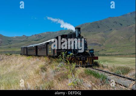 La Trochita, la vieille Patagonian Express entre Esquel et El Maiten dans la province de Chubut, en Patagonie, Argentine, Banque D'Images