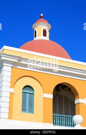 Institut culturel dans la vieille ville de San Juan, Porto Rico, Antilles, Caraïbes, Amérique Centrale Banque D'Images