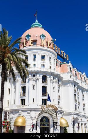 Hôtel Negresco, Promenade des Anglais, Nice, Alpes Maritimes, Provence, Côte d'Azur, d'Azur, France, Europe Banque D'Images
