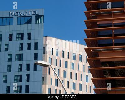 Détails des bâtiments en @22, quartier Poblenou, Barcelone, Catalogne, Espagne Banque D'Images