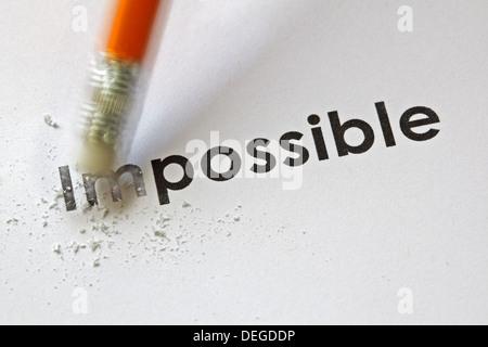 À partir de l'impossible possible Banque D'Images