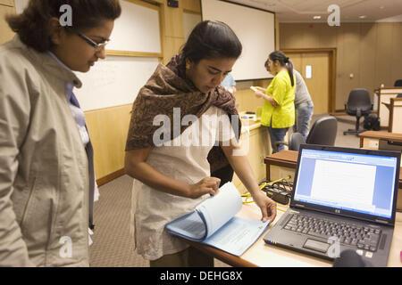 L'Inde. Hyderabad. Hi - Tech City. Indian School of Business. Banque D'Images