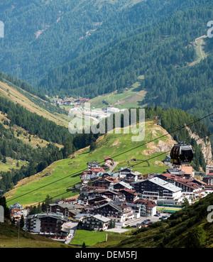 Obergurgl ski Alpes autrichiennes Tyrol Autriche Banque D'Images