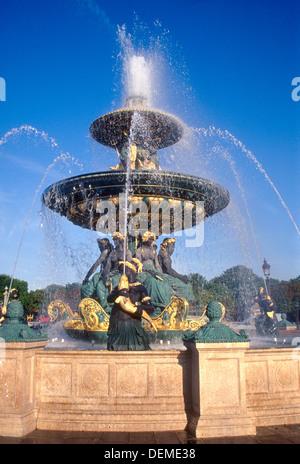 Paris, Place de la Concorde Banque D'Images