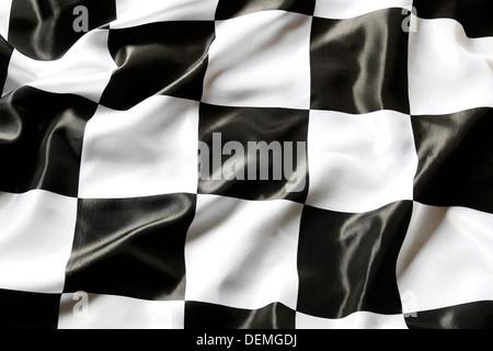 Drapeau à damier noir et blanc libre Banque D'Images