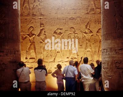 Grand Temple d'Abydos de Seti I construit au 13e siècle avant J.-C., Abydos. L'Égypte Banque D'Images