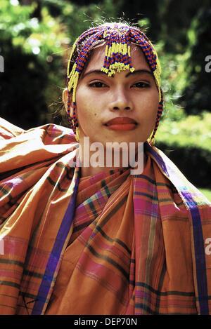 Costume traditionnel davao Mindanao aux Philippines Banque D