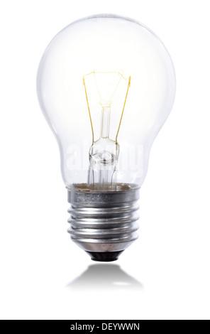 Ampoule Lumière isolée sur un arrière-plan de Pentecôte avec l'élément légèrement iluminated Banque D'Images