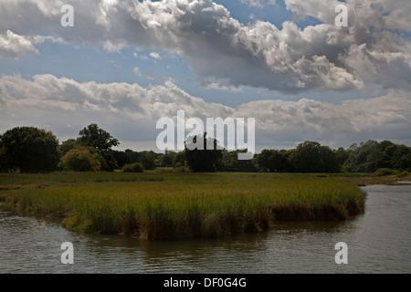 L'eau atteindre eling bartley eling hampshire angleterre Banque D'Images