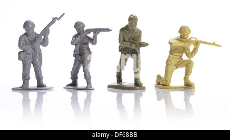 Petits soldats en plastique Banque D'Images