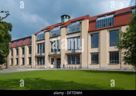 Bâtiment principal de l'Université Bauhaus de Weimar, ancien de l'école d'art de 1911, après que des plans conçus Banque D'Images