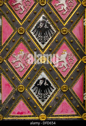 Détail d'une porte de l'église-background Banque D'Images