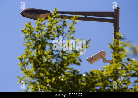 Caméras de surveillance dans la ville de Palma, à Majorque, Espagne Banque D'Images
