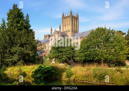 La cathédrale de Wells, Somerset, England, United Kingdom