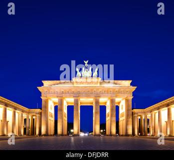 La porte de Brandebourg à Berlin, Allemagne. Banque D'Images