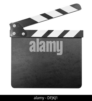 Clapper board isolated with clipping path inclus Banque D'Images