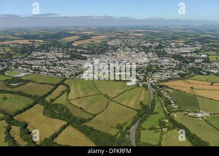 Photographie aérienne de Truro, Cornwall Banque D'Images