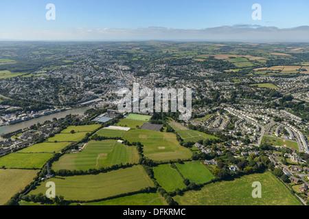 Photographie aérienne Truro Cornwall Banque D'Images
