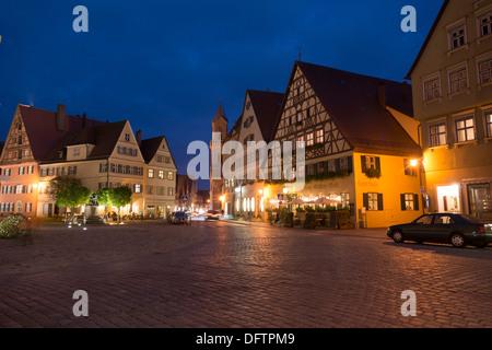 Place du marché, Dinkelsbühl, Middle Franconia, Bavaria, Germany Banque D'Images