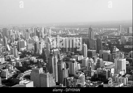 Vue depuis la tour Baiyoke Sky sur Bangkok Banque D'Images