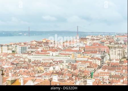 De Lisbonne, le château Saint-Georges, Lisbonne, Portugal Banque D'Images